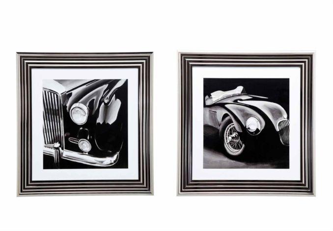 Noble Cars Framed Set - Pictures - Living Room Storage   Bookcases   Furniture Village