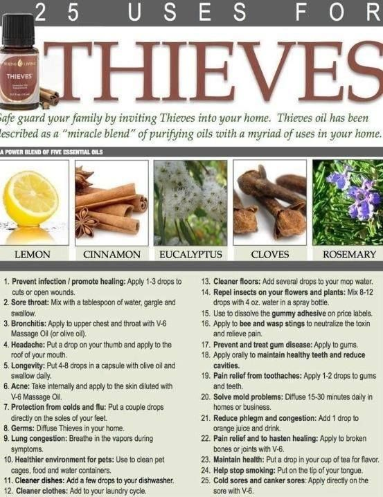 52 Best Essential Oil Thieves Images On Pinterest Health