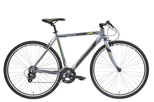 CLEARANCE SALE  Factory Flat Bar Road Bike F140-700CC-T:57cm14SPGREY/BK/YELLOW