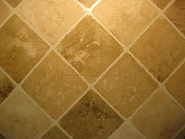 a faux painting technique to look very similar to porcelain or natural stone tile this - Faux Finish Paint