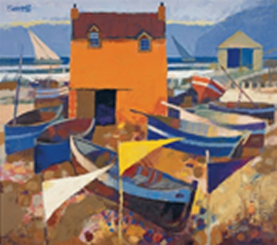 Art Prints Gallery - Boats and Marker Flags (Limited Edition), £75.00 (http://www.artprintsgallery.co.uk/George-Birrell/Boats-and-Marker-Flags-Limited-Edition.html)