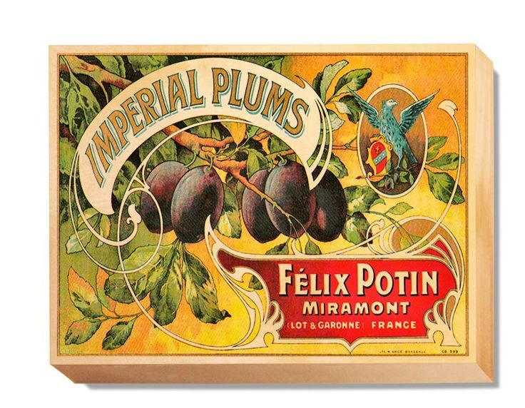 LAB 009 Crate Label Imperial Plums
