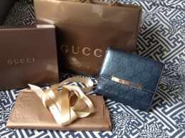 Available @ TrendTrunk.com Authentic Gucci Blue Guccisima Continental French Wallet Accessories. By Authentic Gucci Blue Guccisima Continental French Wallet. Only $128.00!