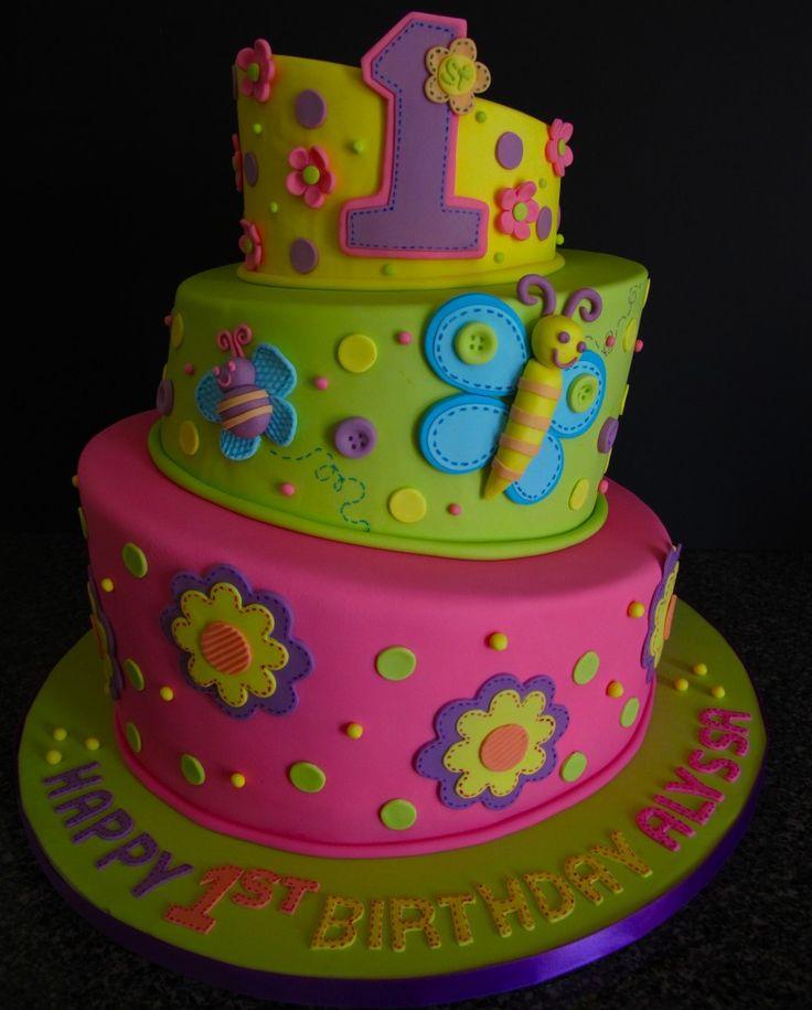 Lil girl birthday cake.