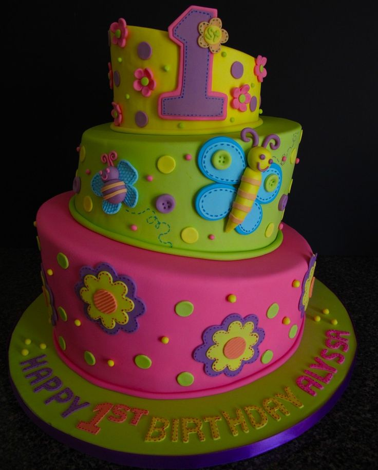 Lil girl birthday cake.