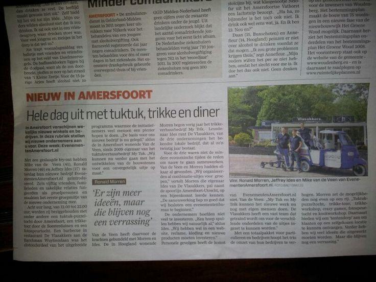 Evenementen Amersfoort in de krant !