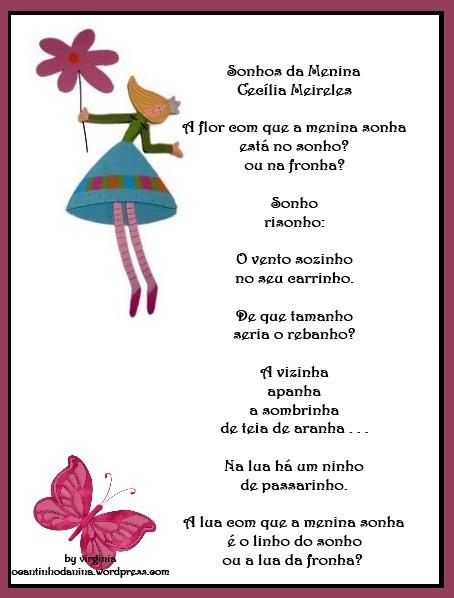 sonhos da menina - cecília meireles