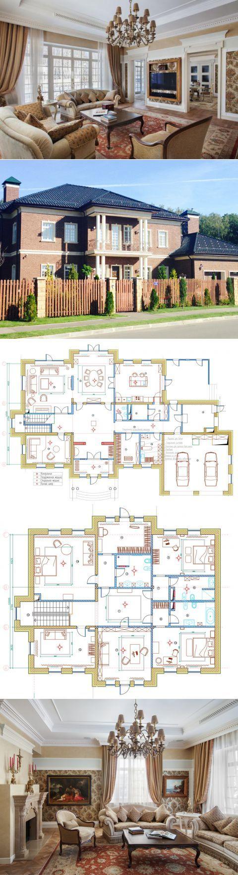 Классический интерьер для коттеджа: 450 кв. м для двоих