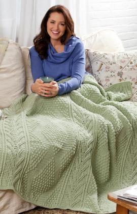 Chevrons & Diamonds Free Crochet Pattern from Red Heart Yarns
