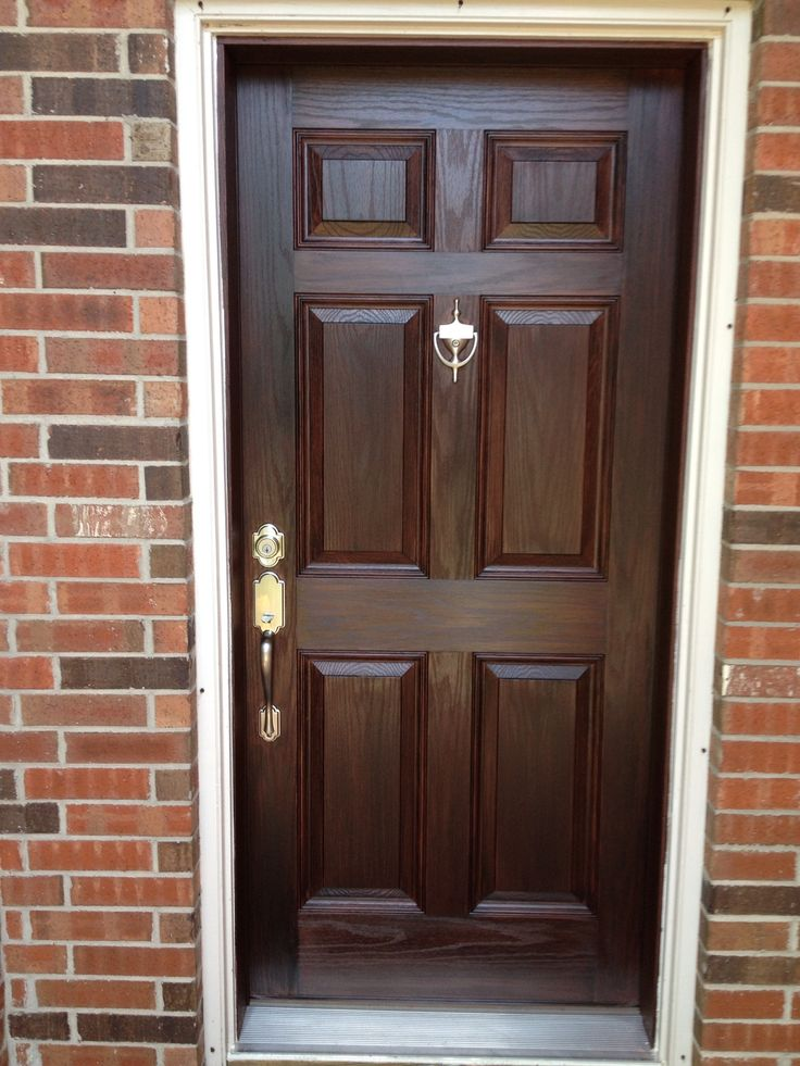 AFTER - front door finished with Black Walnut Stain It! by ...