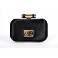 New from the Kardashian Kollection! This Satin Clutch comes in a bright bold magenta pink and a gorgeous orange as well as the black. It has an optional snake chain, too, if you'd like it to drape over your shoulder for your special night. Classy glamour at its best!