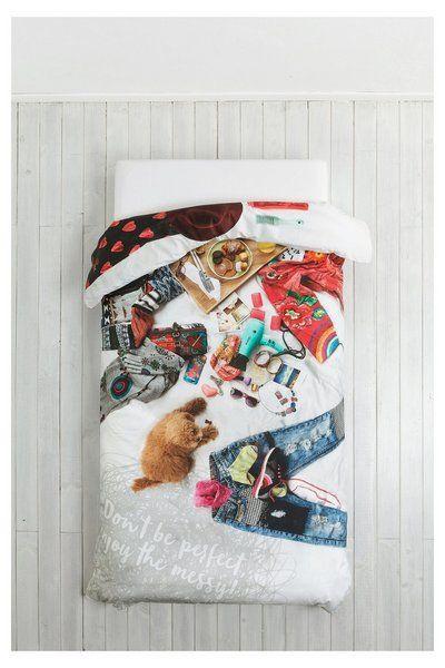 Funda nórdica fotográfica Messy Bed Desigual. Descubre la colección otoño-invierno 2016. ¡Devoluciones y envío a tienda gratis!