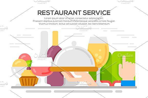 Restaurant service concept by Kurokstas on @creativemarket