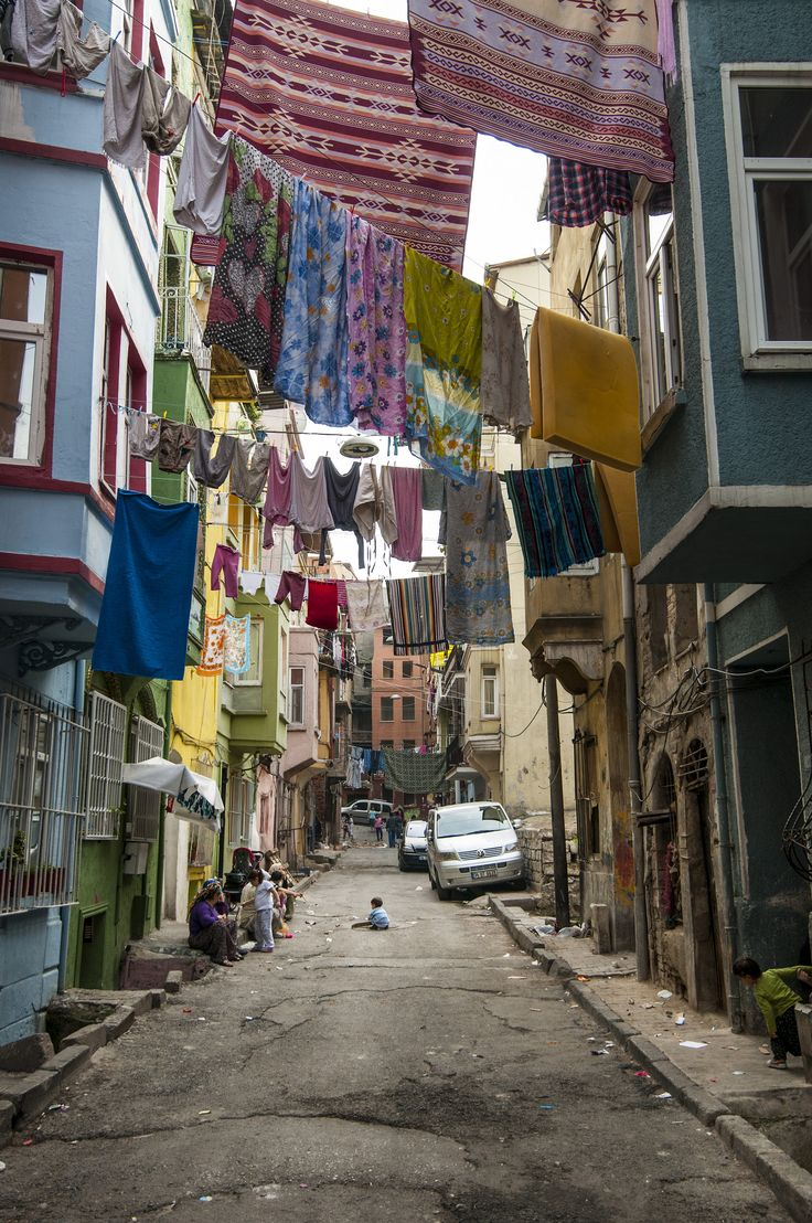 A Street in Tarlabaşı, Istanbul | Smelly Towels? | Stinky Laundry?| Washer Odor? | http://WasherFan.com | Permanently Eliminate or Prevent Washer & Laundry Odor with Washer Fan™ Breeze™ |#Laundry #WasherOdor#SWS