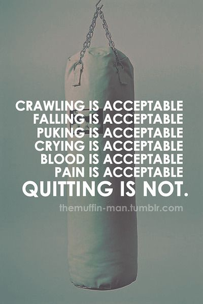 Crying and falling is acceptable. Quitting is not acceptable. http://#fitness http://#exercise http://#motivation
