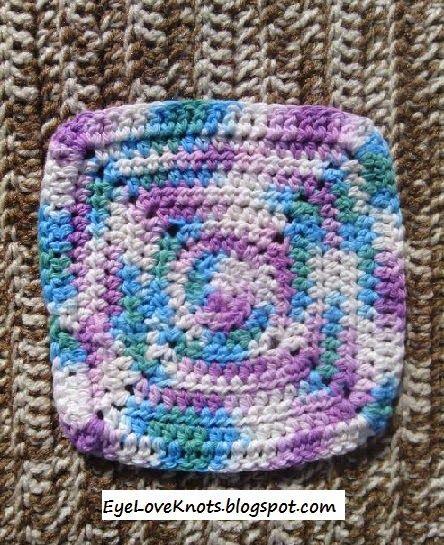 EyeLoveKnots: Crochet Square Washcloth - Pattern REVIEW - Stitch11