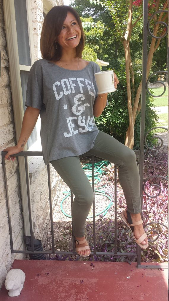 Coffee and Jesus Flowy Tee