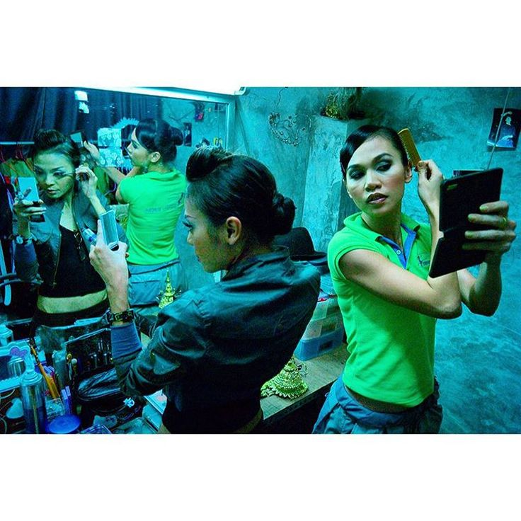 Bangkok. Ladyboys prepare for a fashion show. For a collaborative book on Thailand involving 100 photographers spread throughout the country. My essay was on Bangkok nightlife.