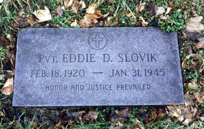 Pvt Eddie Slovik - The last US Solider to be exectuted for desertion, and the only soldier to be executed for this crime during World War II.