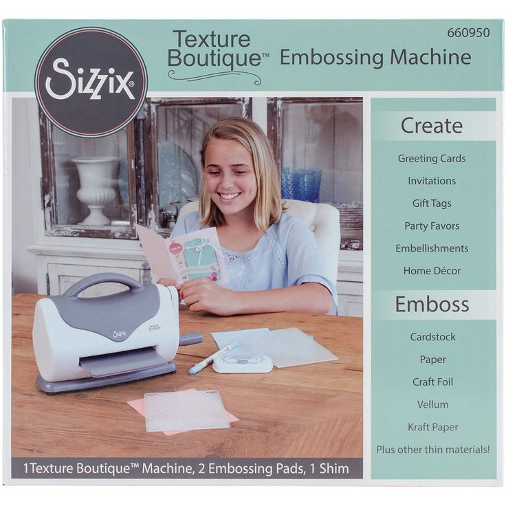 Sizzix Texture Boutique Embossing Machine-Gray & White - gray & white