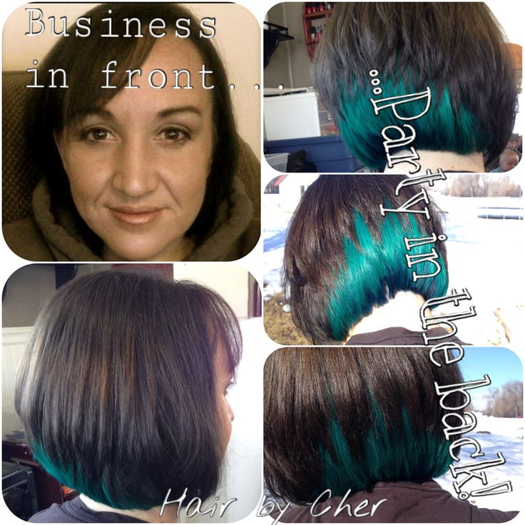Green Teal Hair For St Patricks Day Go Business In Front