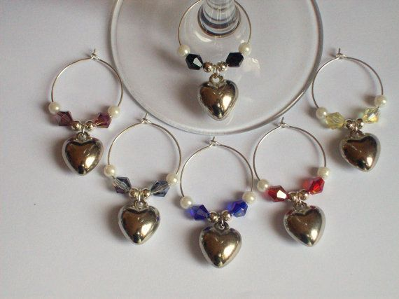 Christmas Wine Glass Charms Bachelorette by Michelleshandcrafted