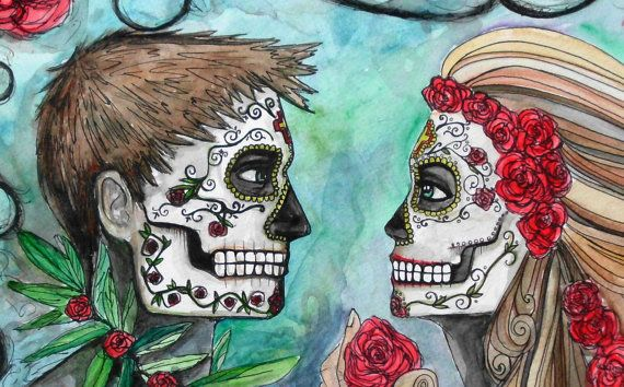 10 best images about day of dead on Pinterest | Couple art ...