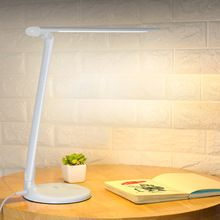 US $30.39 40 LED Bulbs Desk Lamps 3 Level Table lamps Touch Dimmer Reading Lamps For Study modern led white ABS lamparas de mesa 9W T13. Aliexpress product