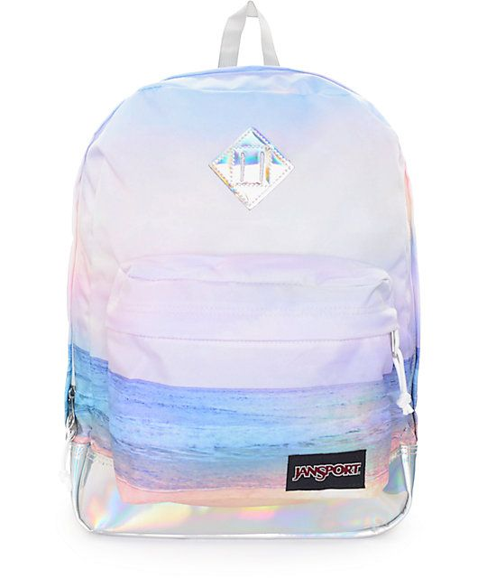 Dale a tu estilo de la playa una bengala prismática con la mochila Super FX multi colorido de puesta de sol con volumen de 25 litros que cuenta con un montón de almacenamiento, un diseño simple, y el estilo final. Esta mochila cuenta con un patrón de