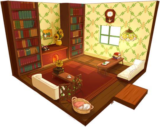 Animal Crossing New Leaf Tea Room Wall