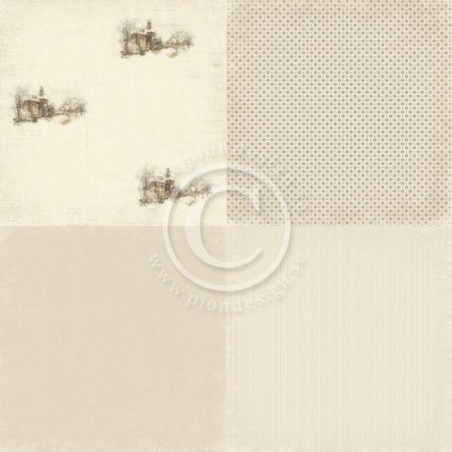 """PION DESIGN - CHRISTMAS IN NORWAY PD6506 6X6 - CHURCH TOSIDIG MØNSTERARK i serien """"CHRISTMAS IN NORWAY6X6"""" en kolleksjon fra PION DESIGN. Motivetmåler ca 15,2cm x 15,2cm.Christmas in Norway - a collection in a Christmas theme - Double sided papers - Paper size 6""""x6""""."""