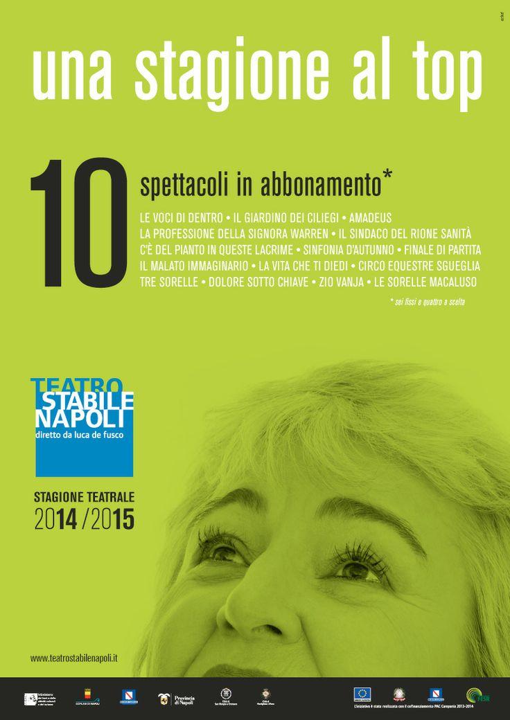 """Campagna di #comunicazione """"una #stagione al top"""" - #Teatro Stabile di #Napoli  #arte #culture #spettacolo #theatre"""