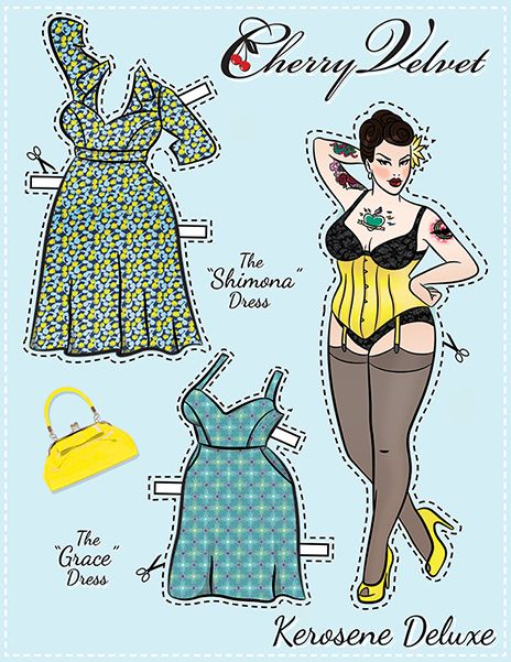 (⑅ ॣ•͈ᴗ•͈ ॣ)                                                            ✄Pin-Up Paper Dolls! – Cherry Velvet Plus