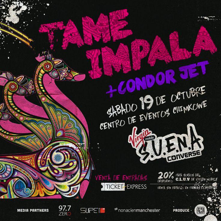 Tame Impala + Condor Jet nos acompañar el 19 de Octubre del 2013 ✌︎ #VirginConverseSUENA