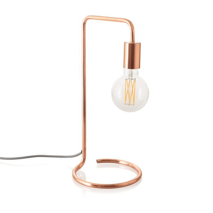 Copper Celio Table Lamp at Oliver Bonas - this side light is so now for bedside tables and desks.