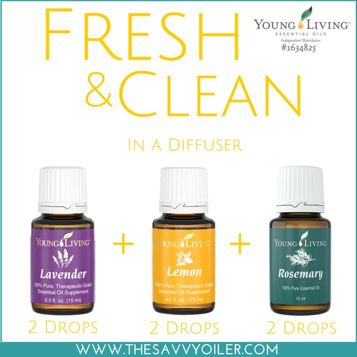 Fresh & Clean in a Diffuser with Young Living Lavender, Lemon and Rosemary Essential Oils | WWW.THESAVVYOILER.COM