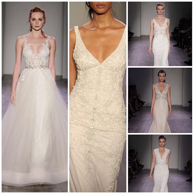 These #Lazaro beauties are featured by @harpersbazaarus today! ✨ Best in Bridal: Fall 2016 #harpersbazaarus www.harpersbazaar.com #laflorbylazaro #bridaltrends #harpersbazaar #jlmcouture #newcollection