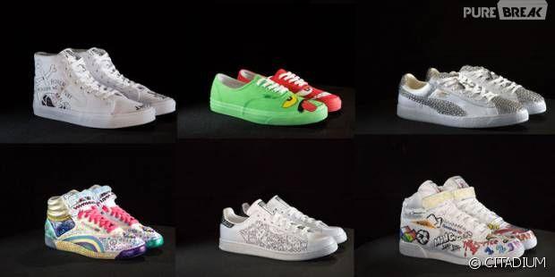 Citadium lance une vente aux enchères de baskets personnalisés par des personnalités comme Mister V, Natoo ou Cyprien pour l'association Cékedubonheur