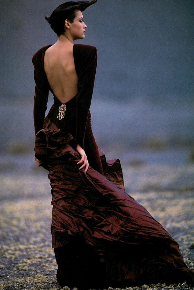 ☆ Famke Janssen | Photography by Hans Feurer | For Vogue Magazine Italy | December 1986