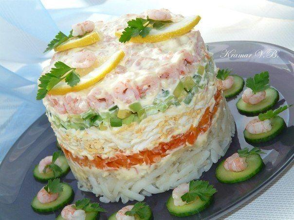 Салат с креветками Нам понадобится: креветки 300 - Кулинарные рецепты