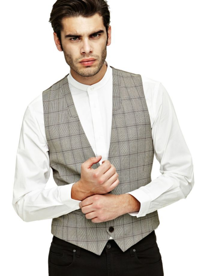 EUR109.00$  Watch now - http://vichh.justgood.pw/vig/item.php?t=rn40ej7560 - MARCIANO CHECK WAISTCOAT