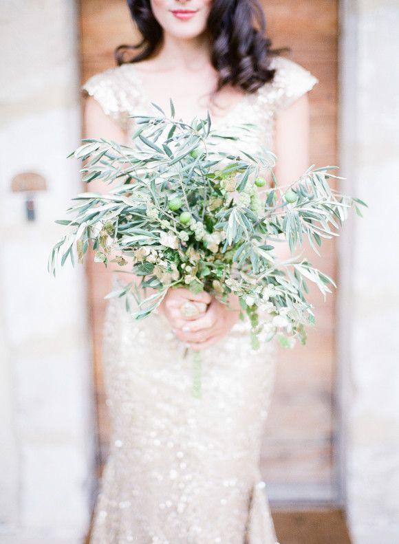 Olive green organic wedding inspiration ~ Katie Julia Photography