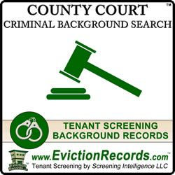The #CountyCriminalSearch is a non-instant #CountyBackgroundSearch that involves sending a professional court researcher to the county court to pull the #CourtRecords. http://www.evictionrecords.com/county-court-records-search/
