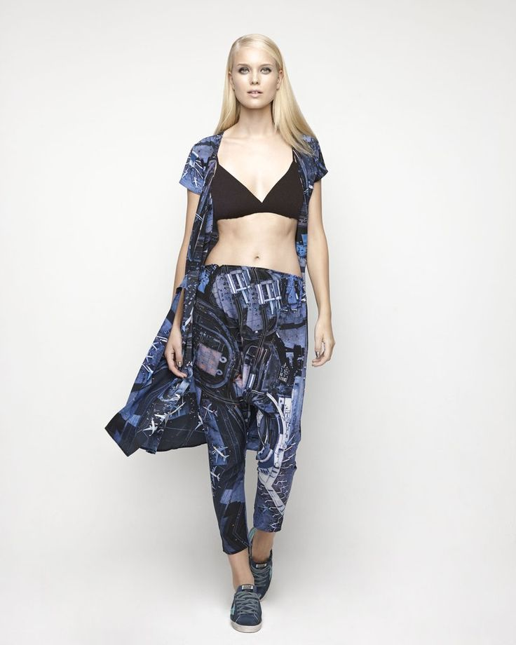 House Of Cannon - Launching Los Angeles - SS17/18 Harem Pants and Tie Dress in Turbulence print