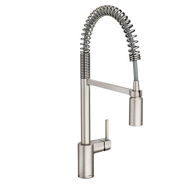 Moen 5923srs Align One Handle Pre Rinse Spring Pulldown Kitchen