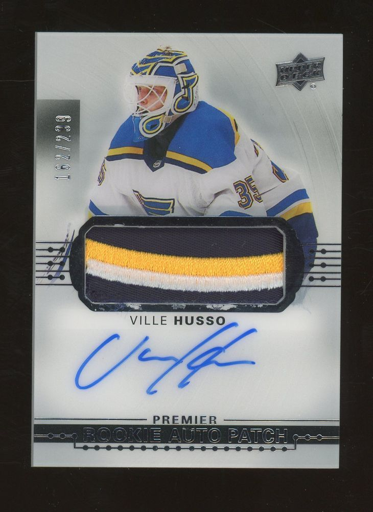 f034915da73 2017-18 Upper Deck Ville Husso RPA RC Rookie Patch AUTO 162/299 Blues  #HockeyCards