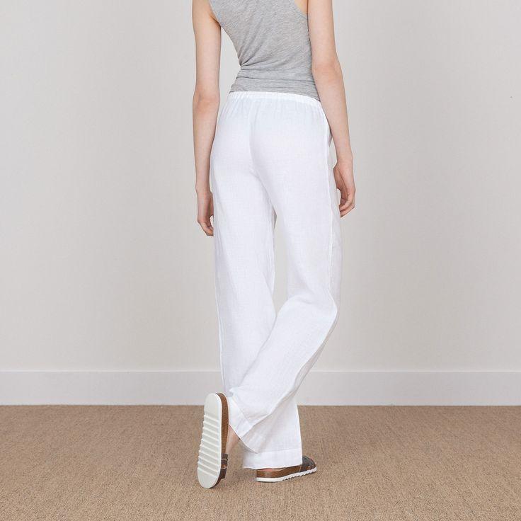 WEISSE LEINENHOSE - Kleidung - Frau - Homewear & shoes | Zara Home Deutschland