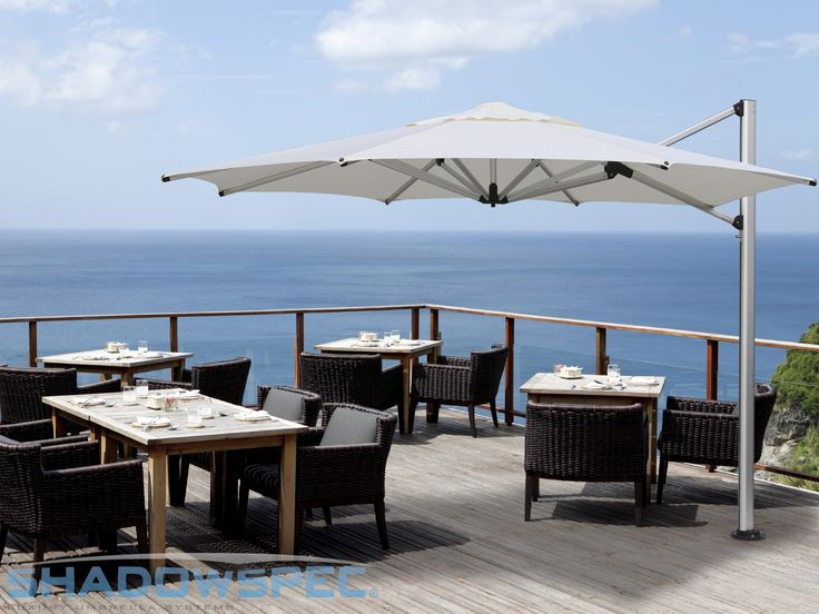shadowspec u2013 global suppliers of luxury outdoor umbrella systems this su4 cantilever umbrella is a great