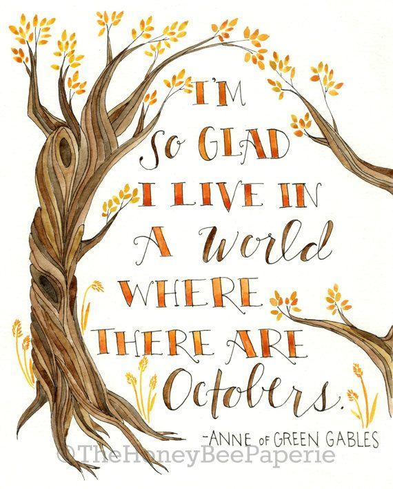 Fall Art Printable/ Autumn Printable/ Autumn by TheHoneyBeePaperie, $7.00
