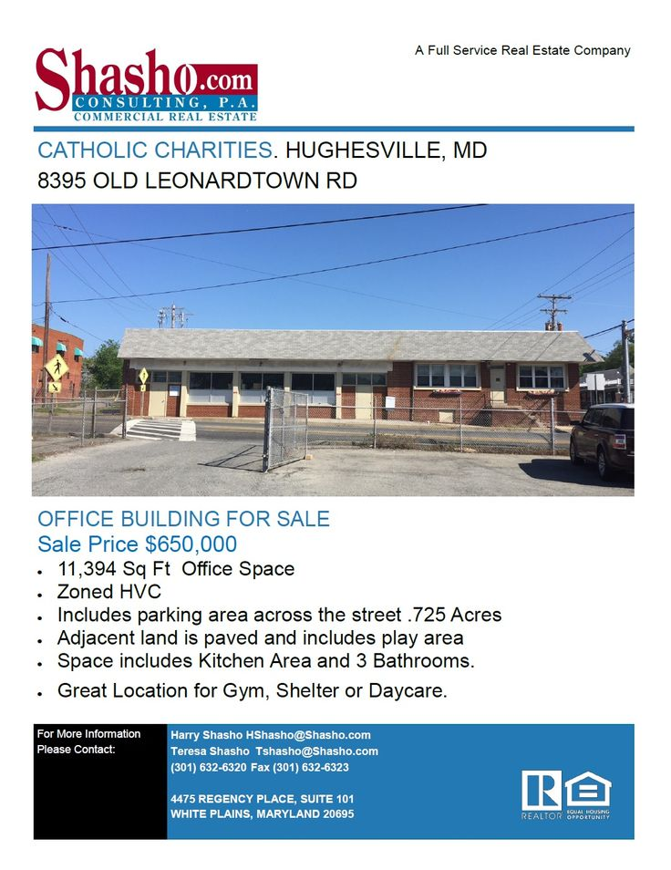OFFICE BUILDING FOR SALE 8395 Old Leonardtown Rd